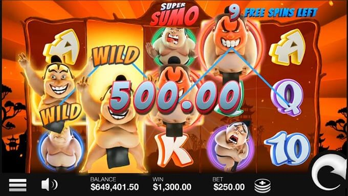 Super Sumo slot bonus features