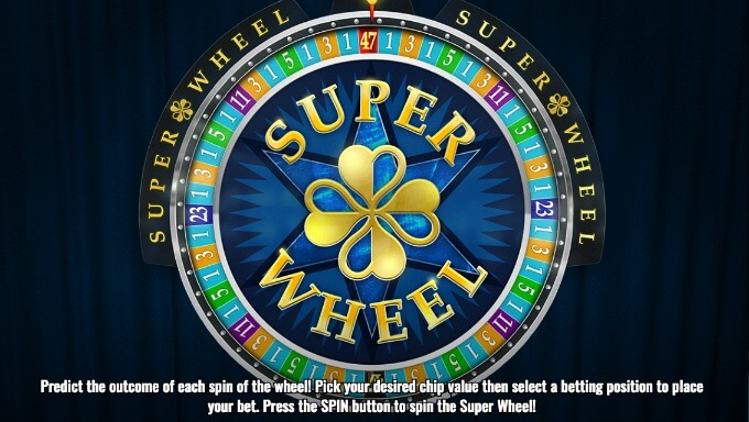 Play Super Wheel game at Dunder casino