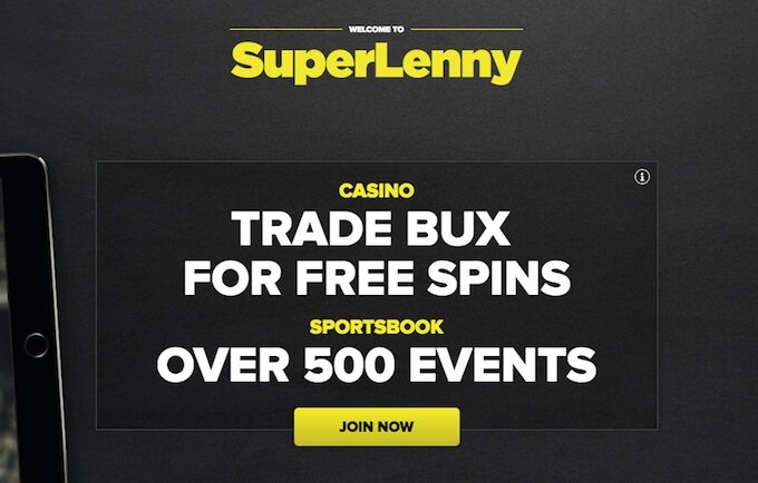 SuperLenny casino - get BUX