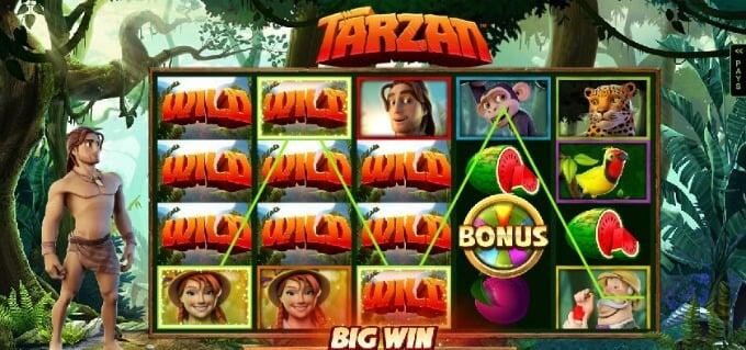 Play Tarzan slot at LeoVegas casino