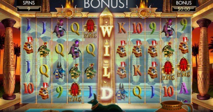 Temple of Luxor slot bonus