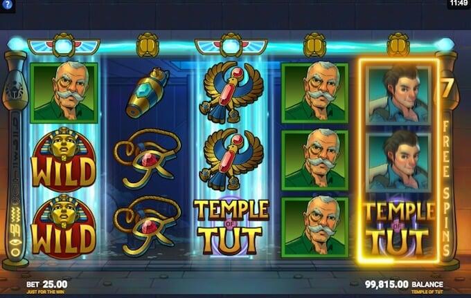 Temple of Tut slot super reels