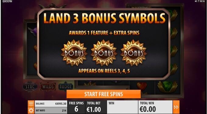 The Grand slot bonus