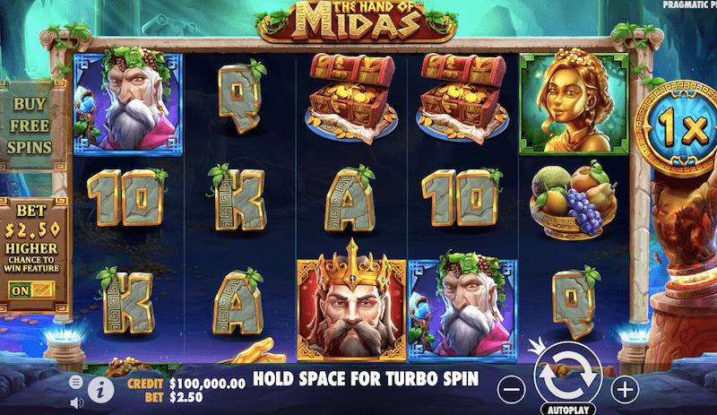 The Hand of Midas Slot