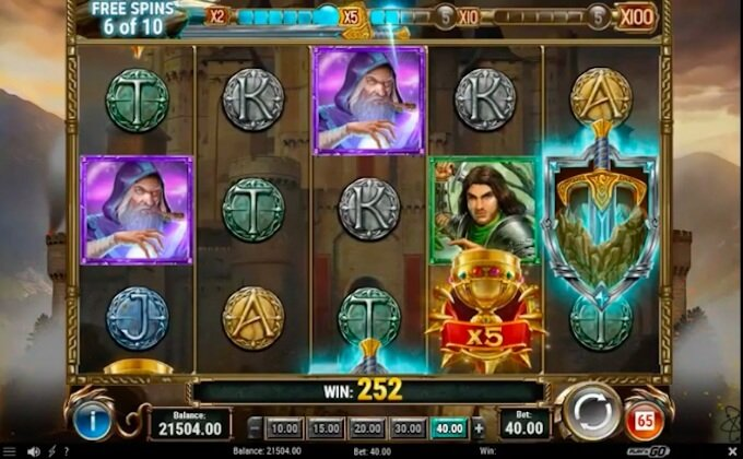 the sword and the grail free spins