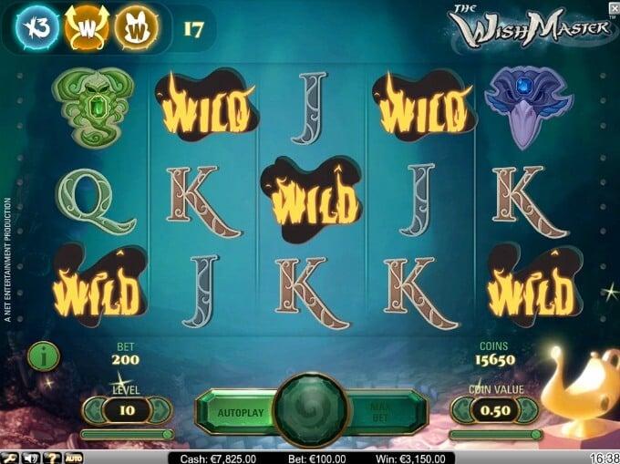 Play The Wish Master slot at Dunder Casino