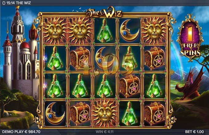 The Wiz slot free spins