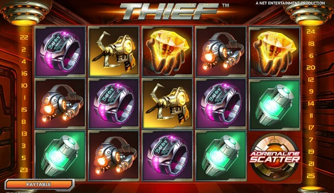 Play Thief slot at Betsafe casino