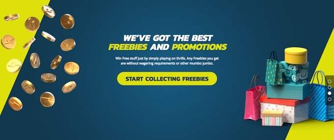 Thrills casino freebies banner