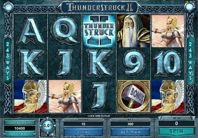 Play Thunderstruck II slot at Casumo casino