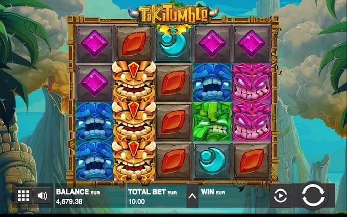 Tiki Tumble slot Nudging Wilds feature