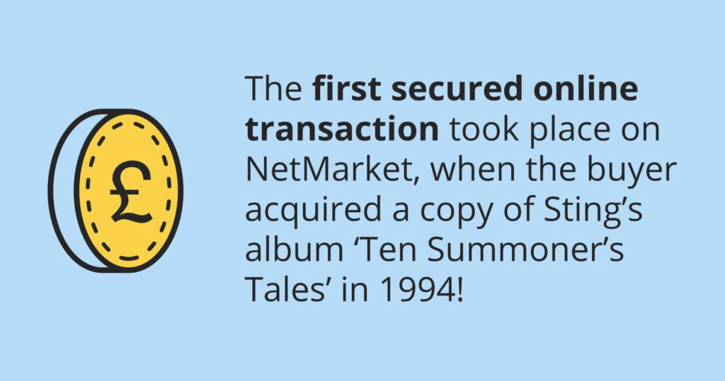 First online transaction