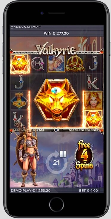 Valkyrie slot on mobile