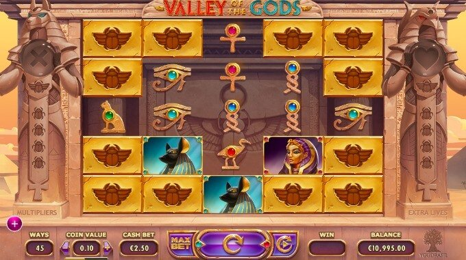 Valley of the gods slot bonus and review