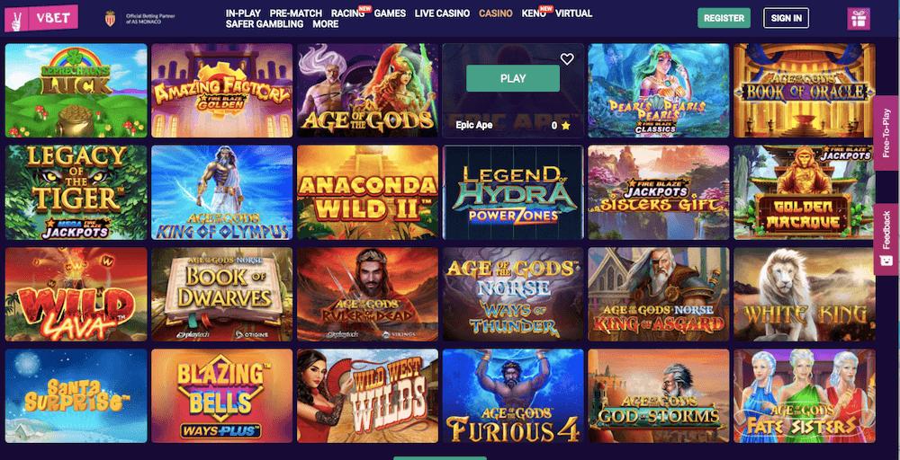 vbet casino slots