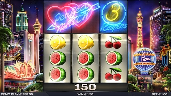 Vegas Diamonds slot respins