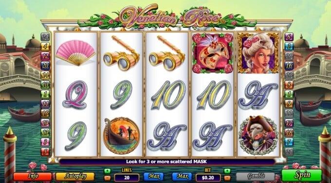Play Venetian Rose slot at Rizk Casino