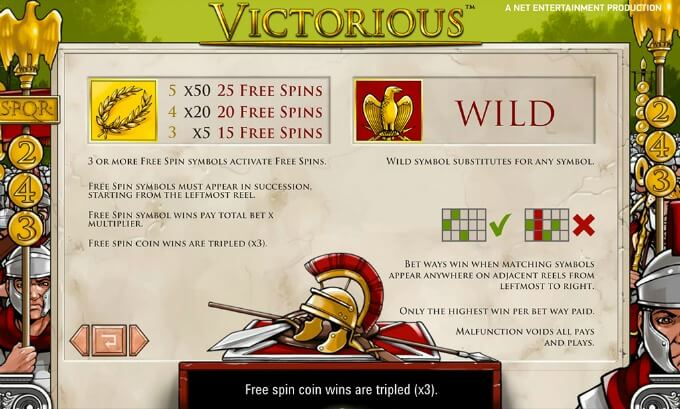 Play Victorious slot at LeoVegas casino