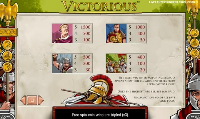 Play Victorious slot at Mr Green casino