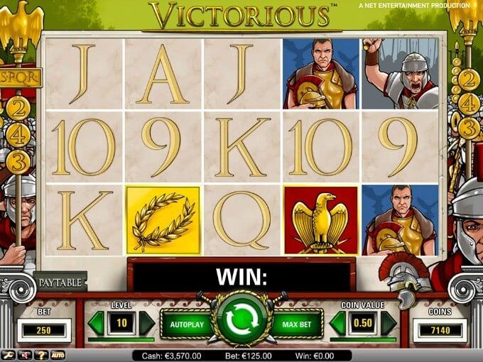 Play Victorious slot at Betsafe casino