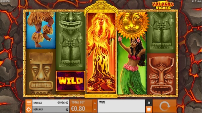 Volcano Riches slot Volcano Wild feature