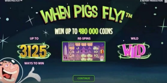Play When Pigs Fly slot at Rizk casino