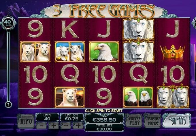 White King 2 slot free spins