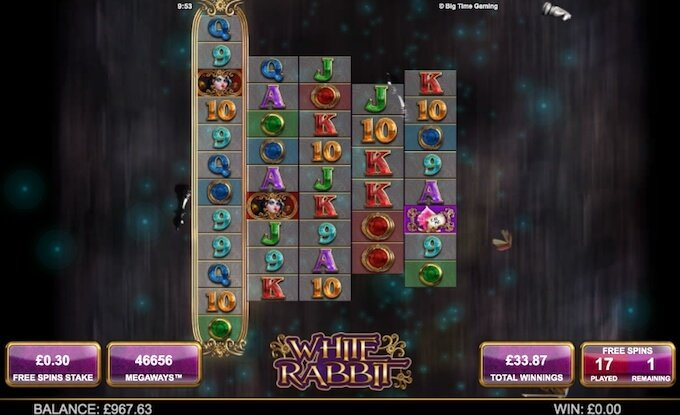 White Rabbit slot expanding reels