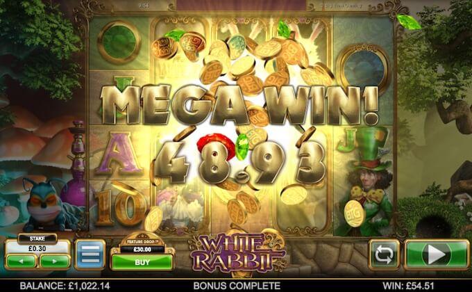 White Rabbit mega wins!