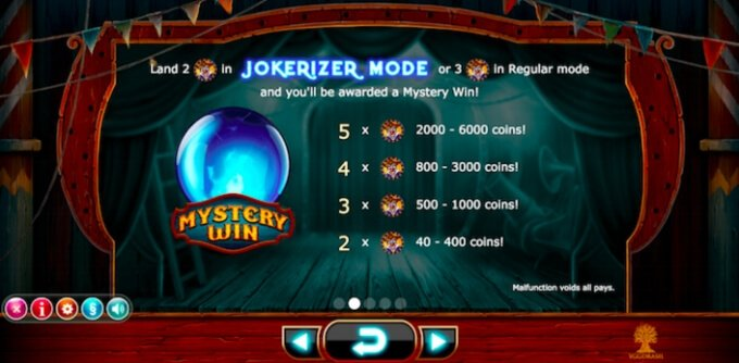 Play Wicked Circus slot on VideoSlots casino