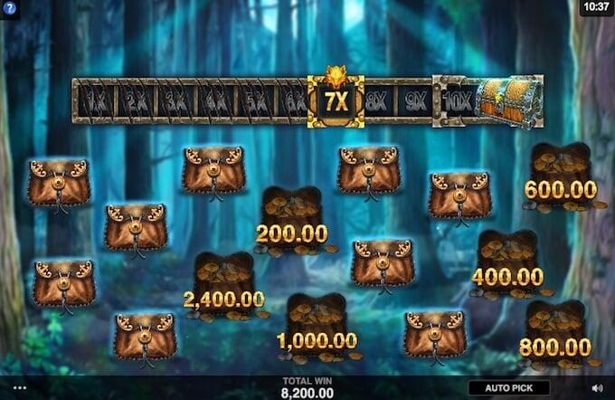 Multiplier bonus in Wicked Tales: Dark Red slot