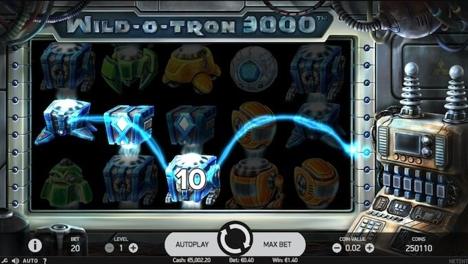 Wild O Tron slot bonus