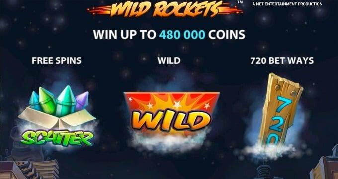 Play Wild Rockets slot at Dunder Casino