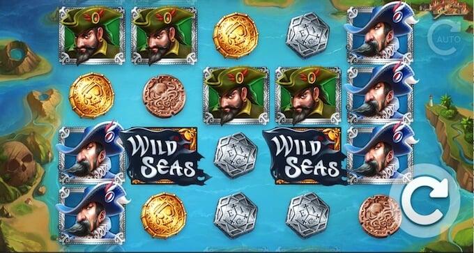 Wild Seas slot base game