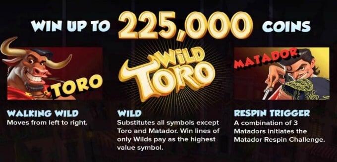 Play Wild Toro slot at Rizk Casino