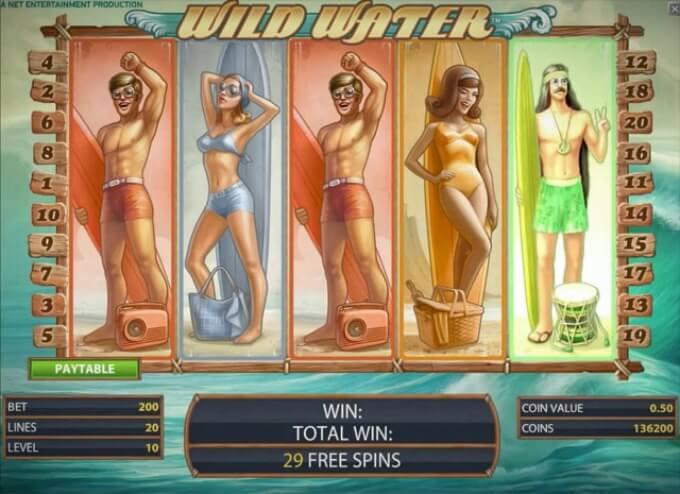 Play Wild Water slot at Dunder casino