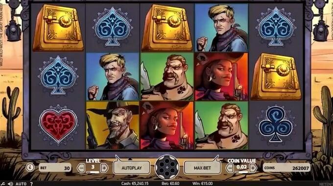 Play Wild Wild West slot at LeoVegas casino