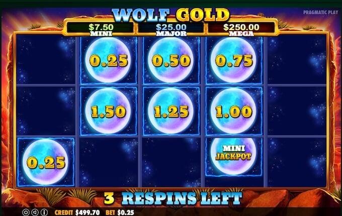 Wolf Gold slot jackpot