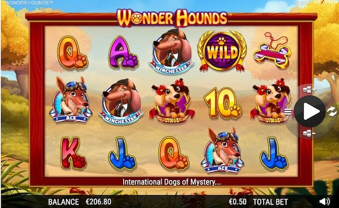 Wonder Hounds slot base game
