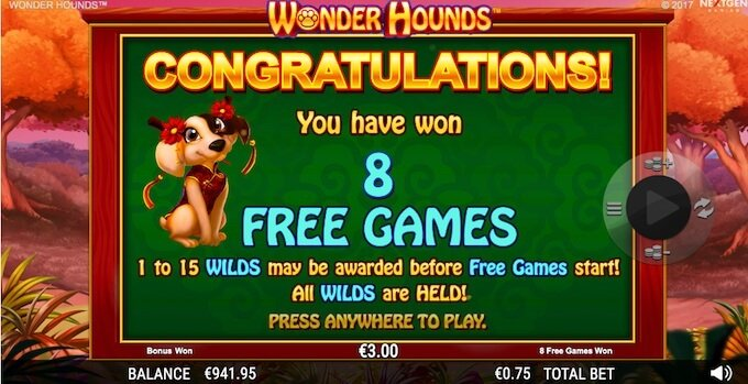 Wonder Hounds slot free spins