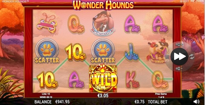 Wonder Hounds free spins round