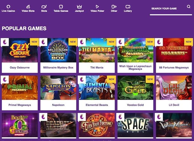 Yako Casino slots and games